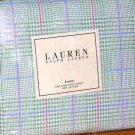 Ralph Lauren Sheet Studio Glen Plaid Greenvale King Fitted 100% Cotton New