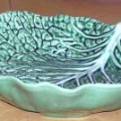 Bordallo Majolica Bowl Serving Vegetable Savoy Cabbage Leaf Embossed Ceramic New