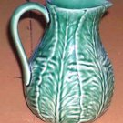 Bordallo Pitcher Majolica Acanthus Leaf Milk Water Embossed Ceramic Nature New
