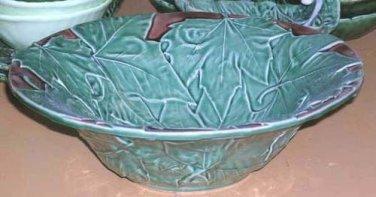 Bordallo Majolica Bowl Serving Maple Leaf Large Embossed Ceramic New