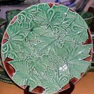 Bordallo Majolica Platter Maple Leaf Serving Round Embossed Ceramic New