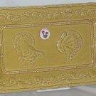 Bordallo Tray Platter Serving Majolica Turkeys Squash Pumpkins Dessert New