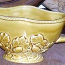 Bordallo Gravy Boat Server Majolica Golden Amber Oak Acorns Holiday Ceramic New