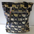 Harajuku Lovers Tote Shopper Overnight Bag Super Hot Love Hate Gold & Black New