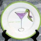 Rosanna Plate High Heel Shoe Martini 'Maybe Later' Date Dessert Stoneware New