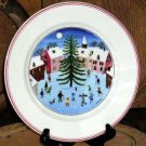 Villeroy & Boch Naif Plate Christmas Tree Folk Art Salad Dessert Sandwich New
