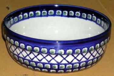 Boleslawiec Polish Pottery Bowl Serving Olives Cross Hatch