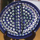 Boleslawiec Polish Pottery Divided Tray Olives Cross Hatch 2 Section Bowl New