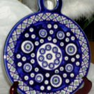 Boleslawiec Polish Pottery Cobalt Chain Cross Hatch Trivet Wall Decor Tray New