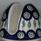Boleslawiec Polish Pottery Napkin Holder Peacock Stoneware Poland New