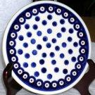 Boleslawiec Polish Pottery Trivet Indigo Dot Sushi Tray Stoneware Poland New