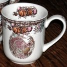Johnson Bros Mug Autumn Monarch Turkey Porcelain Coffee Holiday New Made England