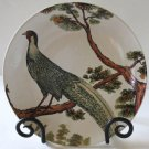 Pottery Barn Plate Pheasant Dessert Salad Decorative Lunch Round Stoneware New