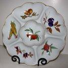 Royal Worcester Evesham Platter Serving 6 Section Botanical Porcelain 1961Englan