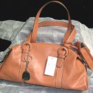 Nine West Purse Doctor Handbag 3pc Cell Phone Key Chain Satchel Bag Papaya New