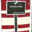 Michael Kors Euro Sham Five Star Chili European Red Ivory Twill Stripes New