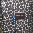 Michael Kors Coverlet Pillow Sham Set Nairobi Brown Leopard Full/Qn Quilted New