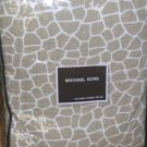 Michael Kors Coverlet Pillow Sham Set Nairobi Dune Leopard Full/Qn Quilted New