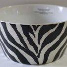 Roscher Bowl Zebra Black Ivory Vertical Stripes Animal Print Soup Cereal New