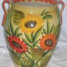 Ita Lica Ars Vase Hand Painted Sunflowers Floral Centerpiece Display Italy New