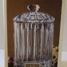 Lenox Covered Box Jar & Lid Lead Crystal Clear Channeled Celery Biscuit New