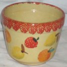 Ita Lica Ars Pot Planter Hand Painted Fruit Bowl Farm House Stoneware Italy New