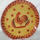Ita Lica Ars Plate Dinner Rooster Farm House Hand Painted Italy Orange New