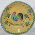 Ita Lica Ars Bowl Rooster Country Hand Painted Soup Cereal Salad Italy Teal