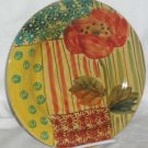 Ita Lica Ars Plate Poppy Floral Hand Painted Dessert Salad Stoneware Italy New