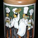 Brunelli Chefs Canister Wood Lid Dessert Specialties Green Stoneware Italy New