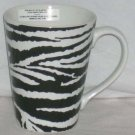 Roscher Mug Zebra Stripes Black White Animal Print Coffee Tea Stoneware New