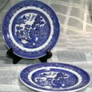 Johnson Bros Plates Bread Butter Willow Blue Transferware Earthenware Set 2 New