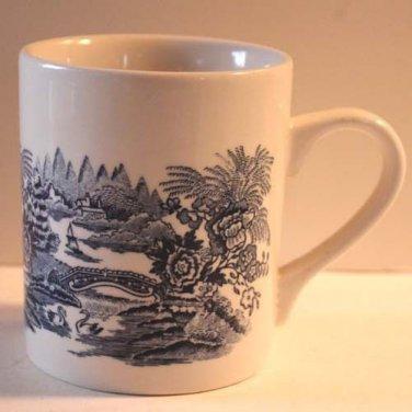 Churchill Mugs Brook Blue Transferware Staffordshire Set 2 Made England New