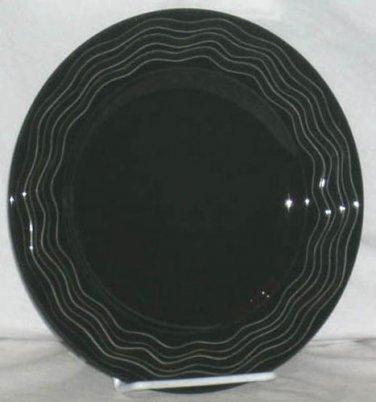 Lenox Plate Accent Spyro Black Round Accent Dessert Salad Porcelain Drama New