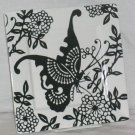 222 Fifth Plate Square Black White Kirigami Butterfly Floral Snack Salad New