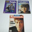 3 Collectible Magazines-John Lennon-No Labels-Newsweek/People/16