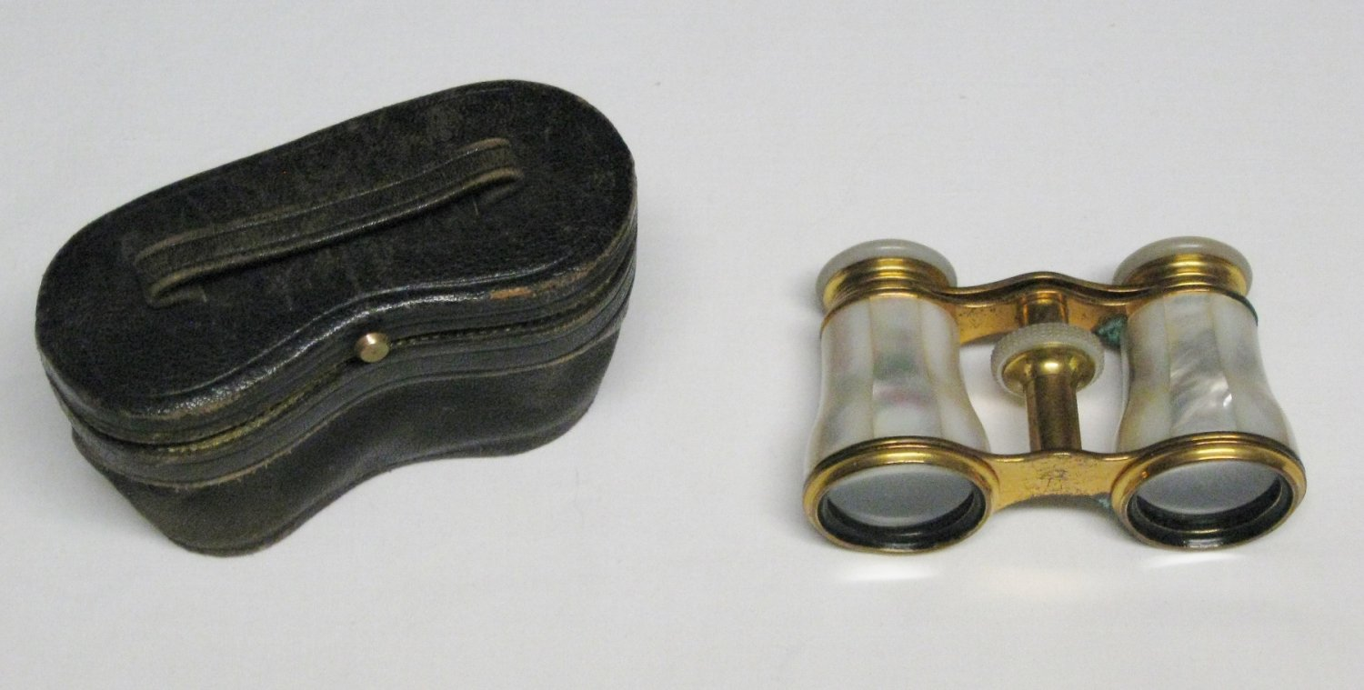 Antique Lemaire/Le Maire Paris Opera Glasses-Mother of Pearl W/Case-Late 1800's