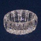 Vtg Clear Glass Mardi Gras by Duncan & Miller(?)-Oval Open Salt Dip/Salt Cellar