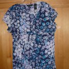 AXCESS BY LIZ CLAIBORNE WOMEN'S BLOUSE HIGH WAIST SIZE LARGE WRINKLE STYLE
