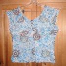 CATO Women's Floral Blouse Short Size 18/20