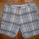 DOCKERS MEN'S SHORTS 100% COTTON SIZE 42 PLAID - FREE SHIP