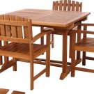 Dual Leaf Butterfly Extension Dining Room Table Solid Teak Wood