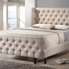 Francesca Modern Platform Queen Size Bed Tufted Details Headboard, Footboard With Side Rails