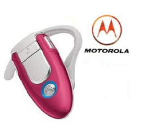 Motorola H500 Pink Limited Edition Bluetooth Headset