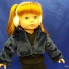 BLUE FUZZY doll jacket- fits American Girl- NEW