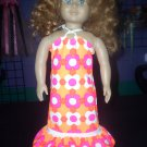 Beach dress in Hot Pink and Orage - American Girl