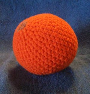 Play Food Hand Crocheted Orange