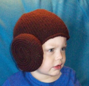 Princess Leia Hair Bun Hat, Star Wars, Hand Knit - Free USA Shipping!
