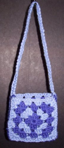 Granny Square Crocheted Purse Clutch - Free Shipping!