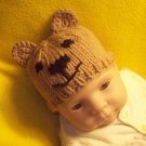 Infant, Baby size Bear Hat, Hand knit - Free USA Shipping!
